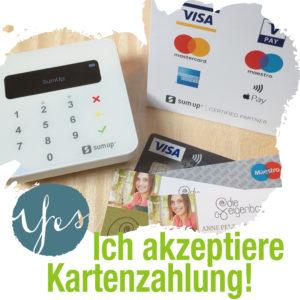 Ich akzeptiere Kartenzahlung!